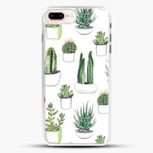 Load image into Gallery viewer, Watercolour Cacti And Succulents iPhone 7 Plus Case, White Rubber Case | JoeYellow.com