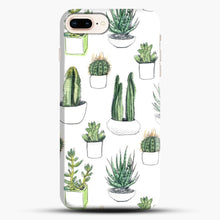 Load image into Gallery viewer, Watercolour Cacti And Succulents iPhone 7 Plus Case, Black Snap 3D Case | JoeYellow.com