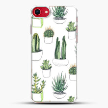 Load image into Gallery viewer, Watercolour Cacti And Succulents iPhone 8 Case, White Plastic Case | JoeYellow.com