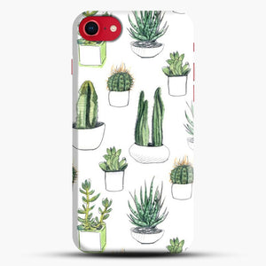 Watercolour Cacti And Succulents iPhone 8 Case, Black Snap 3D Case | JoeYellow.com