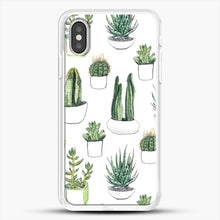 Load image into Gallery viewer, Watercolour Cacti And Succulents iPhone XS Case, White Rubber Case | JoeYellow.com