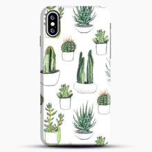 Load image into Gallery viewer, Watercolour Cacti And Succulents iPhone XS Case, Black Snap 3D Case | JoeYellow.com
