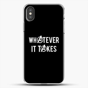 Whatever It Takes Black Background iPhone X Case