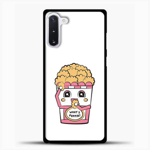 Whats Poppin Snacks Samsung Galaxy Note 10 Case, Black Rubber Case | JoeYellow.com