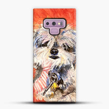 Load image into Gallery viewer, Whimsical Puppy with Tie Samsung Galaxy Note 9 Case