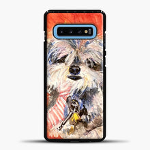 Load image into Gallery viewer, Whimsical Puppy with Tie Samsung Galaxy S10 Case