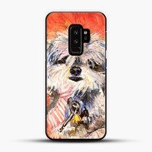 Load image into Gallery viewer, Whimsical Puppy with Tie Samsung Galaxy S9 Plus Case