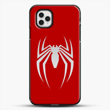 Load image into Gallery viewer, White Spider iPhone 11 Pro Case, Black Plastic Case | JoeYellow.com