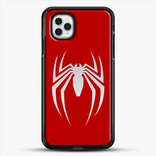 Load image into Gallery viewer, White Spider iPhone 11 Pro Case, Black Rubber Case | JoeYellow.com