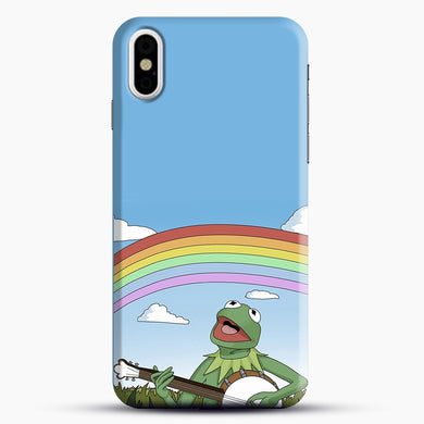 Wholesome Kermit The Frog iPhone X Case, Black Snap 3D Case | JoeYellow.com
