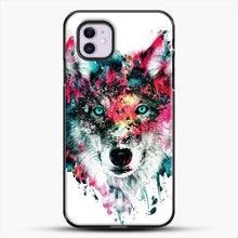 Load image into Gallery viewer, Wolf Ii iPhone 11 Case, Black Plastic Case | JoeYellow.com