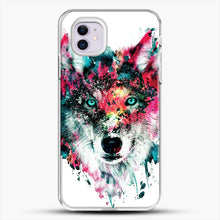 Load image into Gallery viewer, Wolf Ii iPhone 11 Case, White Plastic Case | JoeYellow.com
