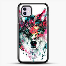 Load image into Gallery viewer, Wolf Ii iPhone 11 Case, Black Rubber Case | JoeYellow.com