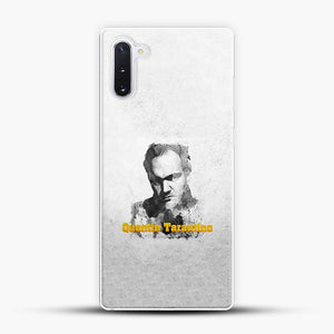 Written And Directed By Quentin Tarantino Artistically Dark Samsung Galaxy Note 10 Case, White Plastic Case | JoeYellow.com