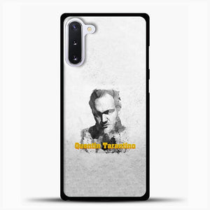 Written And Directed By Quentin Tarantino Artistically Dark Samsung Galaxy Note 10 Case, Black Rubber Case | JoeYellow.com