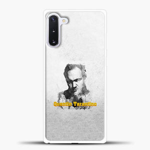 Written And Directed By Quentin Tarantino Artistically Dark Samsung Galaxy Note 10 Case, White Rubber Case | JoeYellow.com