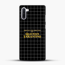 Load image into Gallery viewer, Written And Directed By Quentin Tarantino Black Square Samsung Galaxy Note 10 Case, Black Plastic Case | JoeYellow.com