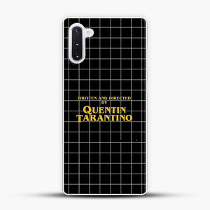 Written And Directed By Quentin Tarantino Black Square Samsung Galaxy Note 10 Case, White Plastic Case | JoeYellow.com