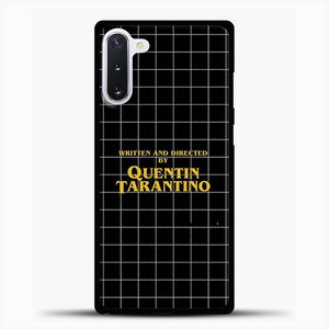 Written And Directed By Quentin Tarantino Black Square Samsung Galaxy Note 10 Case, Black Rubber Case | JoeYellow.com