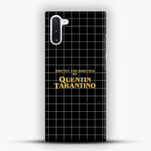 Load image into Gallery viewer, Written And Directed By Quentin Tarantino Black Square Samsung Galaxy Note 10 Case, Snap 3D Case | JoeYellow.com
