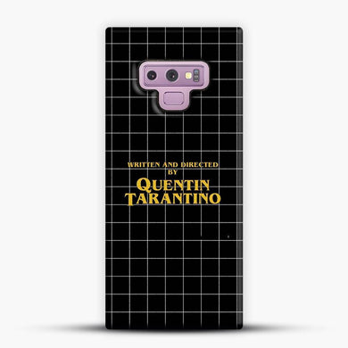 Written And Directed By Quentin Tarantino Black Square Samsung Galaxy Note 9 Case, Snap 3D Case | JoeYellow.com