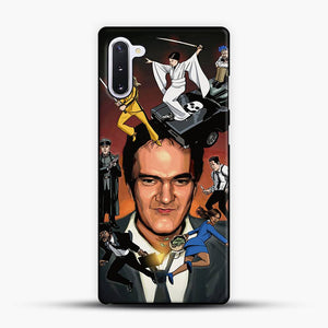 Written And Directed By Quentin Tarantino Character Samsung Galaxy Note 10 Case, Black Plastic Case | JoeYellow.com