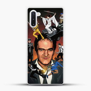 Written And Directed By Quentin Tarantino Character Samsung Galaxy Note 10 Case, White Plastic Case | JoeYellow.com