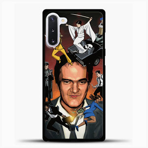 Written And Directed By Quentin Tarantino Character Samsung Galaxy Note 10 Case, Black Rubber Case | JoeYellow.com