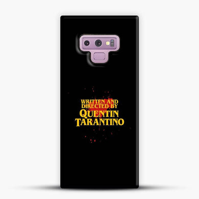 Written And Directed By Quentin Tarantino Red Splash Samsung Galaxy Note 9 Case, Snap 3D Case | JoeYellow.com