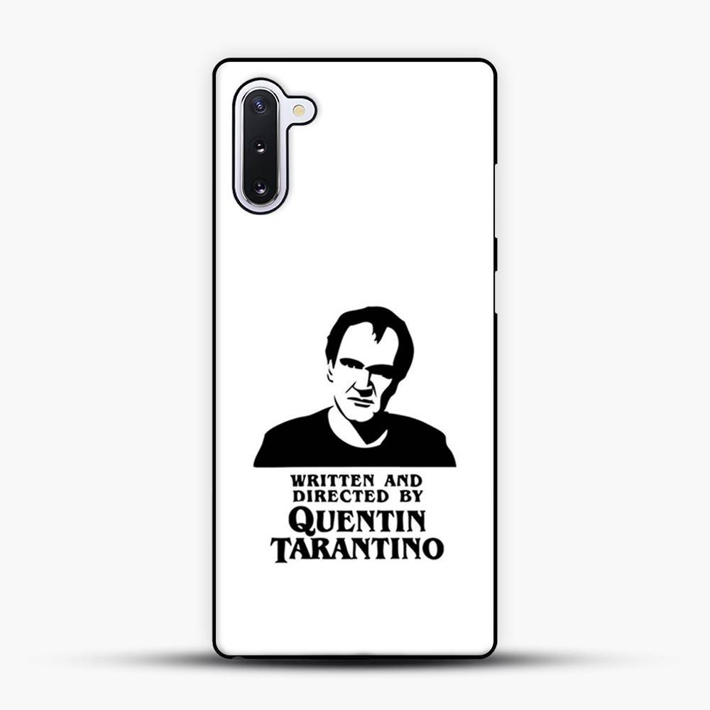 Written And Directed By Quentin Tarantino Shioulette Samsung Galaxy Note 10 Case, Black Plastic Case | JoeYellow.com
