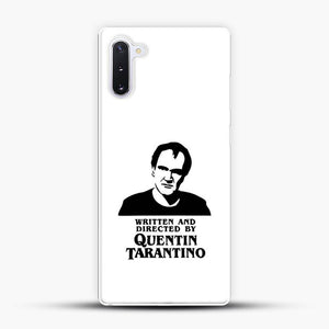 Written And Directed By Quentin Tarantino Shioulette Samsung Galaxy Note 10 Case, White Plastic Case | JoeYellow.com
