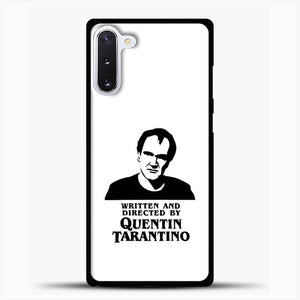 Written And Directed By Quentin Tarantino Shioulette Samsung Galaxy Note 10 Case, Black Rubber Case | JoeYellow.com