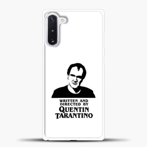 Written And Directed By Quentin Tarantino Shioulette Samsung Galaxy Note 10 Case, White Rubber Case | JoeYellow.com