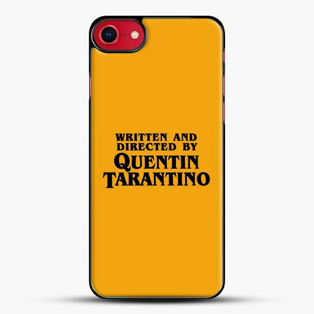 Written And Directed By Tarantino iPhone SE 2020 Case, Black Plastic Case | JoeYellow.com