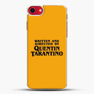 Written And Directed By Tarantino iPhone SE 2020 Case, White Plastic Case | JoeYellow.com