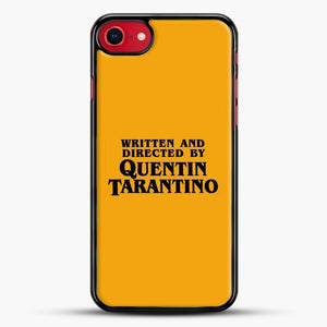 Written And Directed By Tarantino iPhone SE 2020 Case, Black Rubber Case | JoeYellow.com