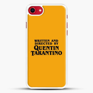 Written And Directed By Tarantino iPhone SE 2020 Case, White Rubber Case | JoeYellow.com