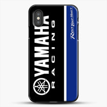 Load image into Gallery viewer, Yamaha Blue iPhone XS Case, Black Plastic Case | JoeYellow.com