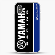 Load image into Gallery viewer, Yamaha Blue iPhone XS Case, White Plastic Case | JoeYellow.com