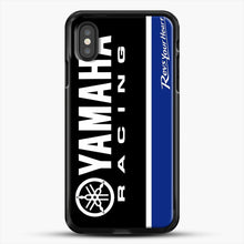 Load image into Gallery viewer, Yamaha Blue iPhone XS Case, Black Rubber Case | JoeYellow.com