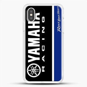 Yamaha Blue iPhone XS Case, White Rubber Case | JoeYellow.com