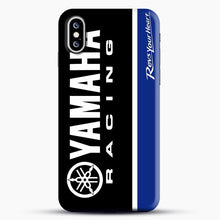 Load image into Gallery viewer, Yamaha Blue iPhone XS Case, Black Snap 3D Case | JoeYellow.com