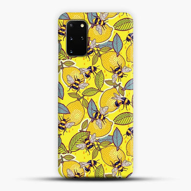 Yellow Lemon And Bee Garden Samsung Galaxy S20 Plus Case, Snap 3D Case | JoeYellow.com
