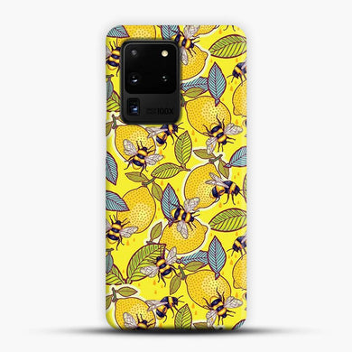 Yellow Lemon And Bee Garden Samsung Galaxy S20 Ultra Case, Snap 3D Case | JoeYellow.com