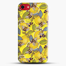 Load image into Gallery viewer, Yellow Lemon And Bee Garden iPhone 8 Case, Black Snap 3D Case | JoeYellow.com