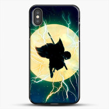 Load image into Gallery viewer, Zenitsu Agatsuma Demon Slayer Art iPhone X Case, Black Plastic Case | JoeYellow.com