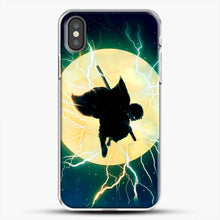Load image into Gallery viewer, Zenitsu Agatsuma Demon Slayer Art iPhone X Case, White Plastic Case | JoeYellow.com