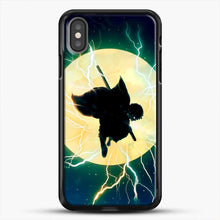 Load image into Gallery viewer, Zenitsu Agatsuma Demon Slayer Art iPhone X Case, Black Rubber Case | JoeYellow.com