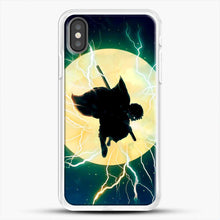 Load image into Gallery viewer, Zenitsu Agatsuma Demon Slayer Art iPhone X Case, White Rubber Case | JoeYellow.com