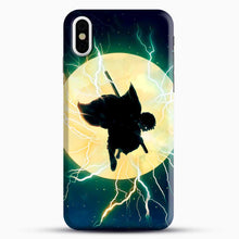 Load image into Gallery viewer, Zenitsu Agatsuma Demon Slayer Art iPhone X Case, Black Snap 3D Case | JoeYellow.com